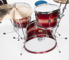 Pork Pie Hip Pig Red Gold Duco Drum Kit