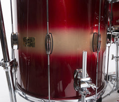 Pork Pie Rock Red Gold Duco Drum Kit