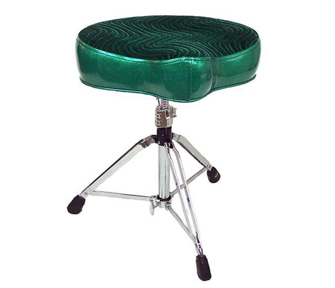 Pork Pie Big Boy Green Swirl Drum Throne