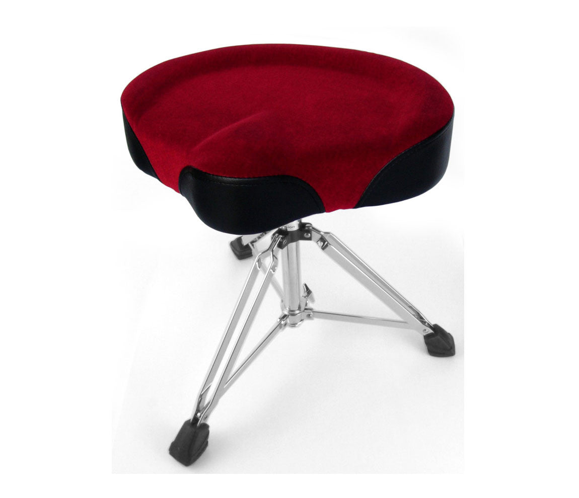 Custom Percussion Red Cycle Seat Drum Throne