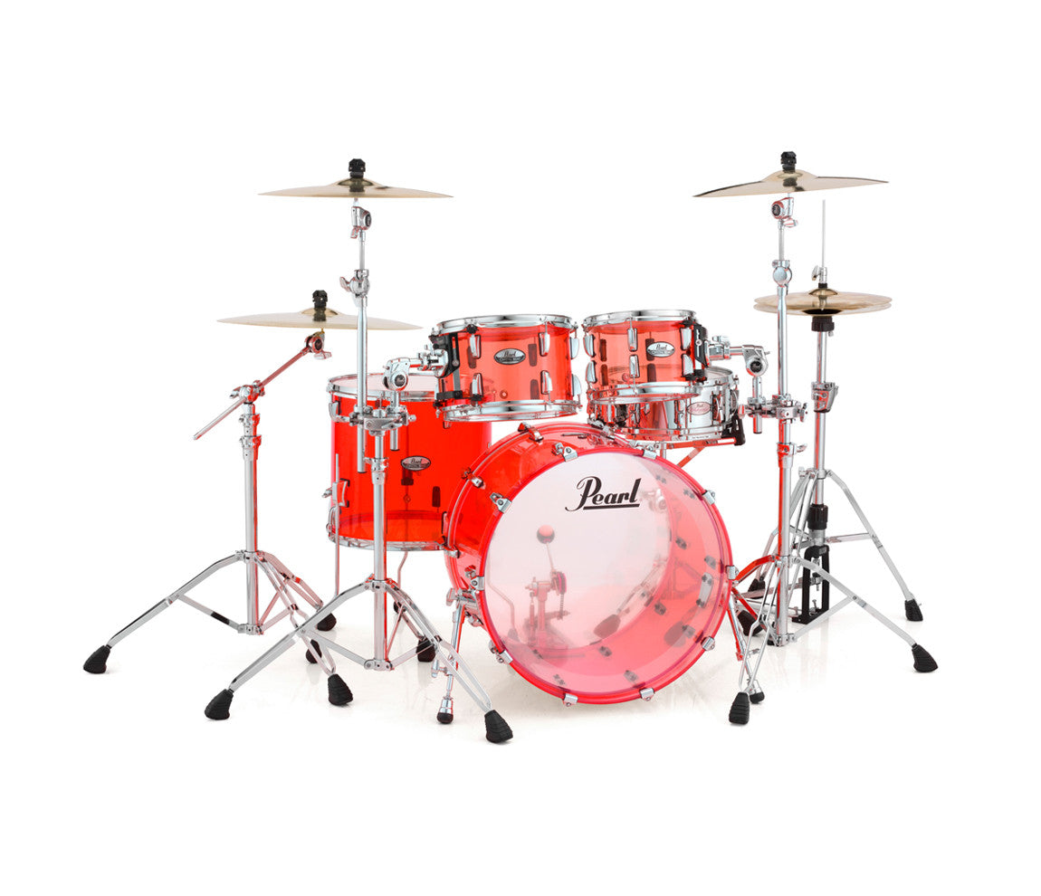 pearl crystal beat 4 piece rock fusion usa drum kit in ruby red drum shop. Black Bedroom Furniture Sets. Home Design Ideas