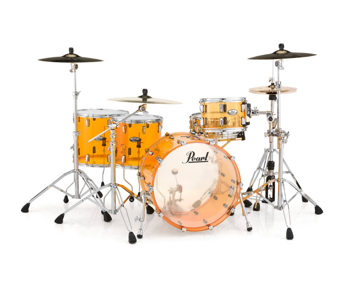Pearl Crystal Beat 4-Piece Rock Drum Kit in Tangerine Glass