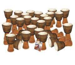 30 player Tweneboa Wood Djembe pack - Bucara (Key Stage 3)