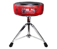 Pork Pie Special Edition Red and Black Skull Drum Throne