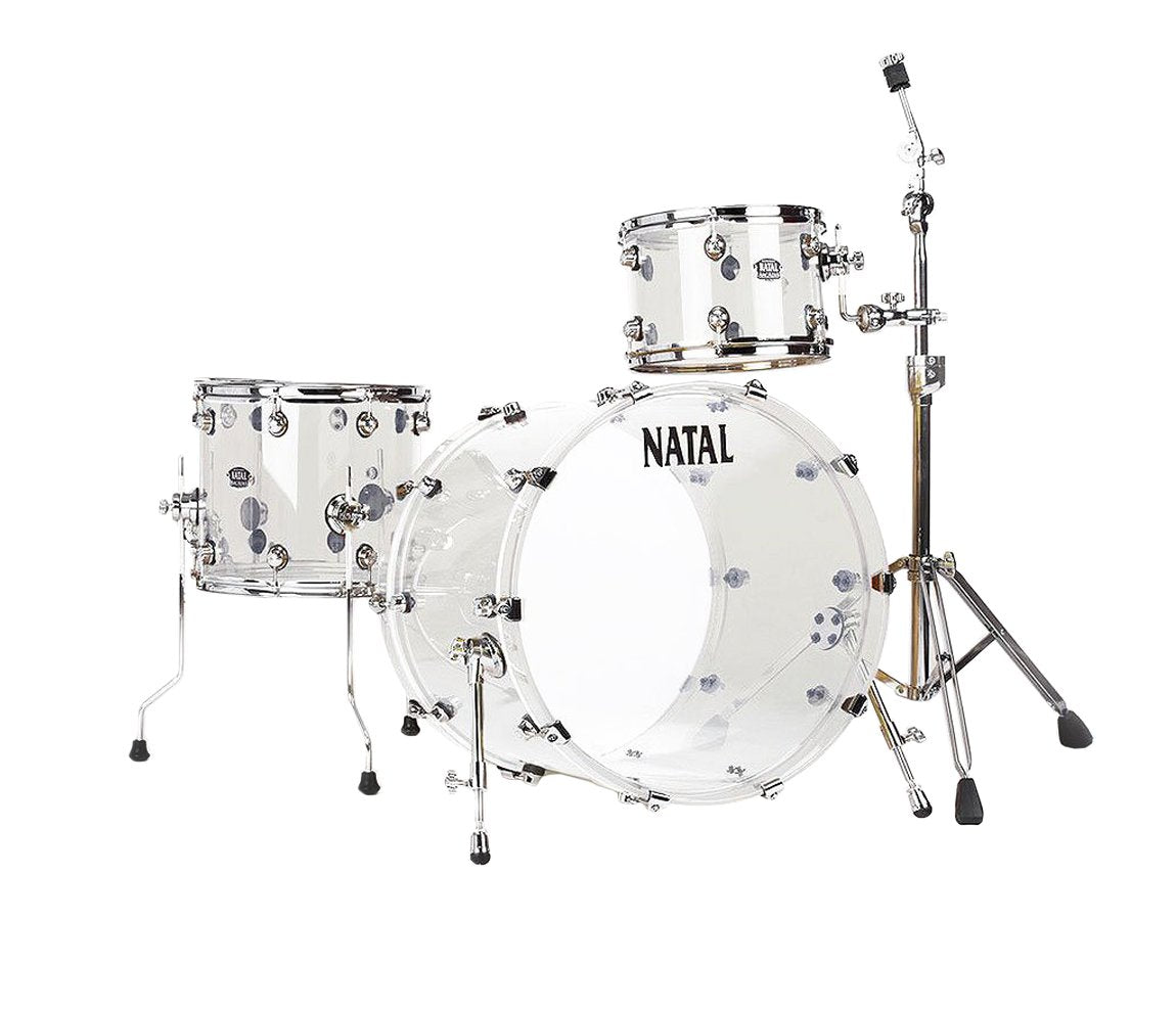 Natal Arcadia Acrylic 3-Piece Shell Pack in Transparent Clear Acrylic Finish