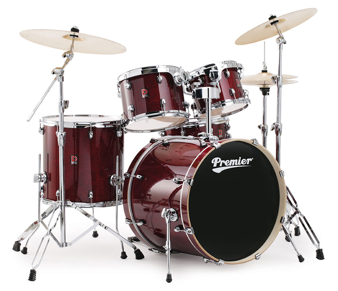 Premier XPK Series Modern Rock 22 Drum Kit in Translucent Ruby