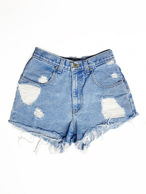 Vtg Light Wash High Waist Shorts