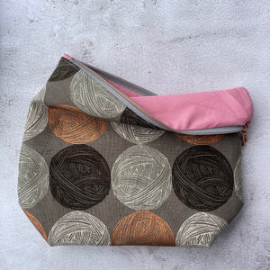 Drawstring project bag with matching pouch