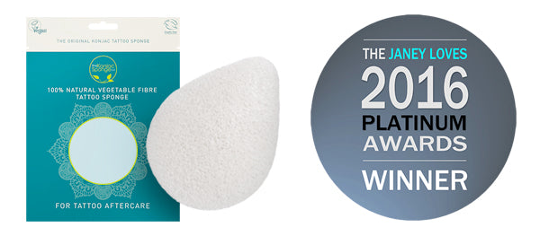 KONJAC TATTOO SPONGE GOES PLATINUM