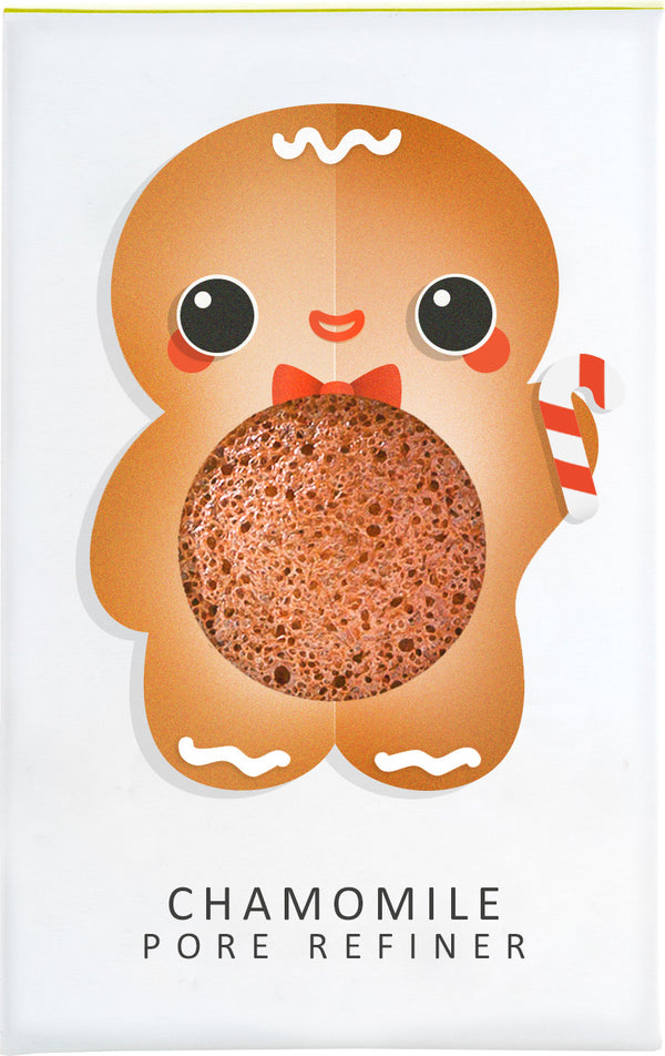 Konjac Mini Pore Refiner Gingerbread Man With Chamomile