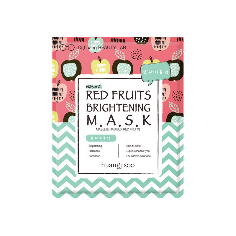 Huangjisoo Red Fruit Brightening Face Mask 5 Pack