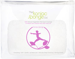 100% Pure Konjac Sports Sponge – Lilac Lady