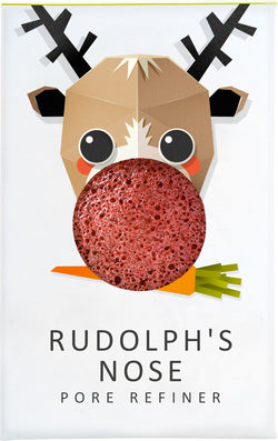 Konjac Mini Pore Refiner Rudolph With Red French Clay