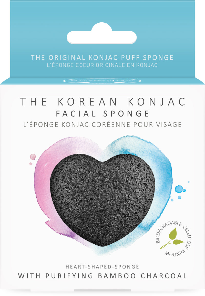 Konjac Heart Sponge With Bamboo Charcoal