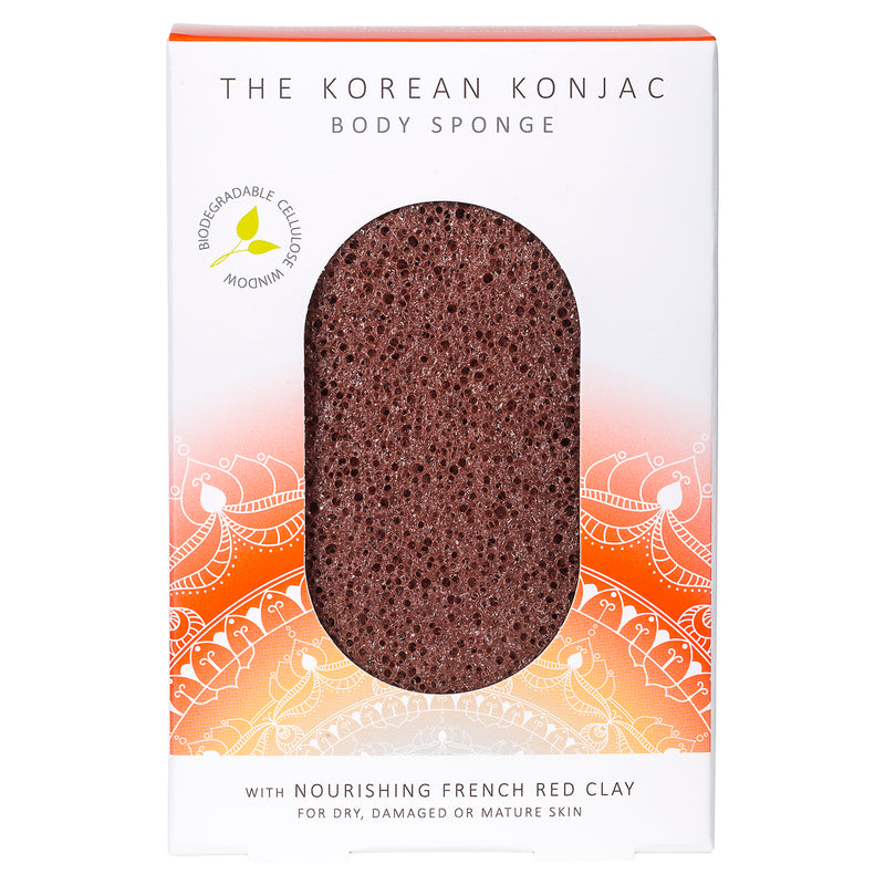 The Mandala Red Clay Body Sponge