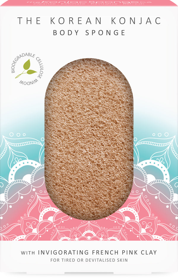 The Mandala Pink Clay Body Sponge