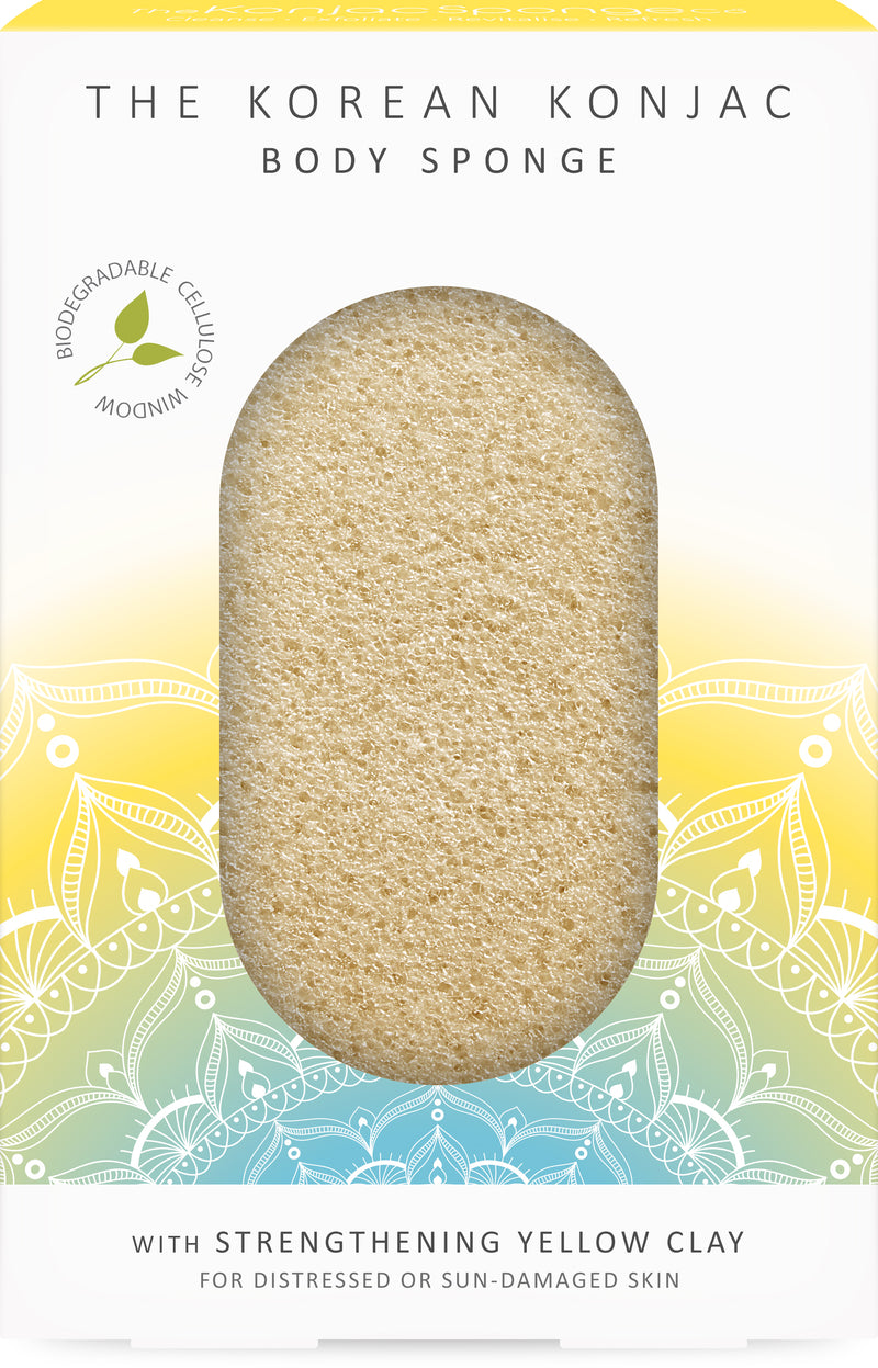 The Mandala Yellow Clay Body Sponge