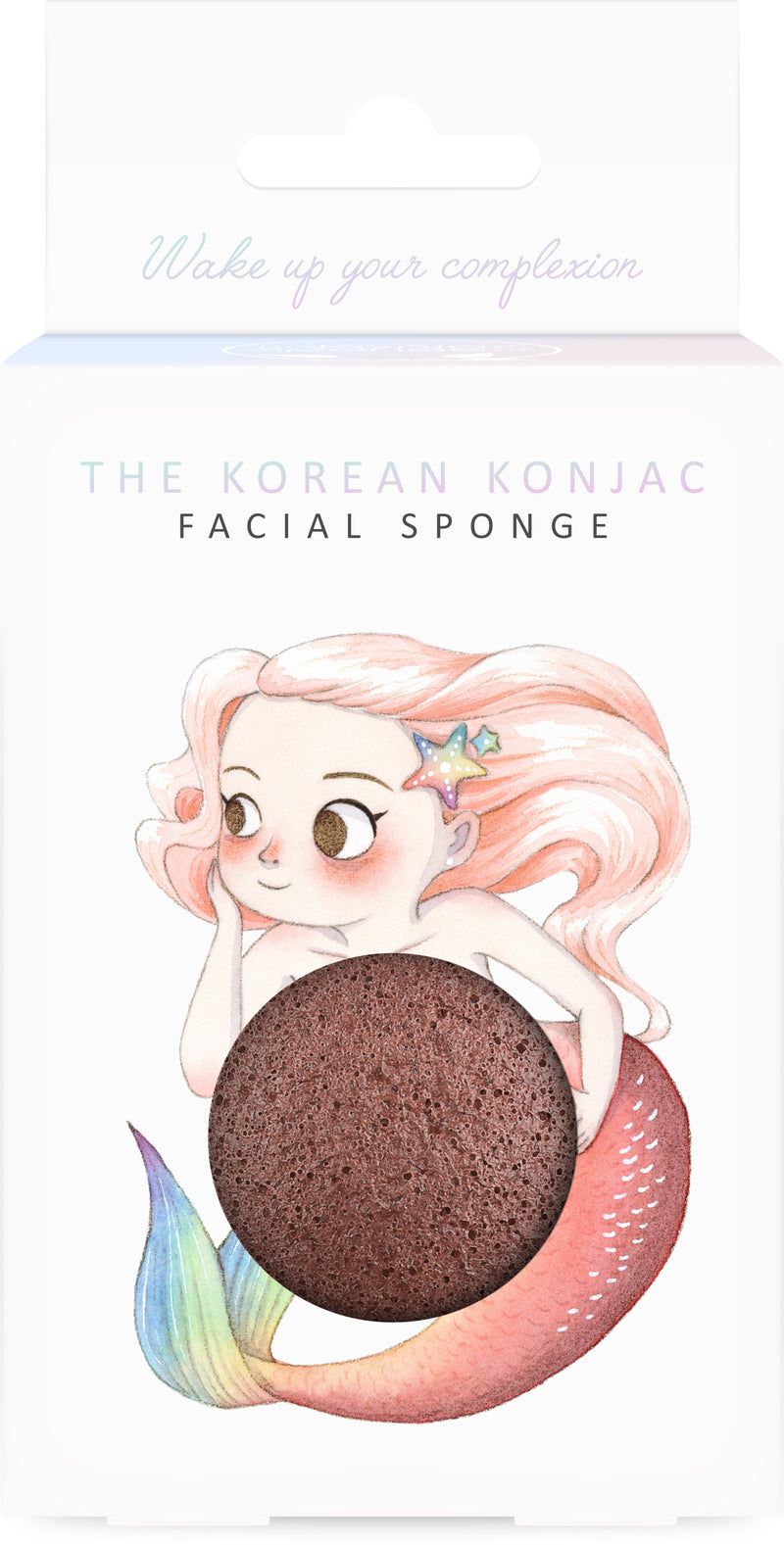 Mythical Mermaid Konjac Face Sponge & Hook French Red Clay