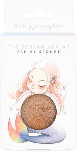 Mythical Mermaid Konjac Face Sponge & Hook French Pink Clay