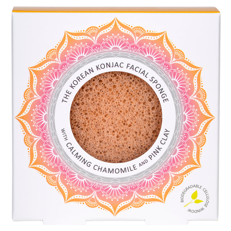 The Mandala Chamomile & Pink Clay Face Sponge