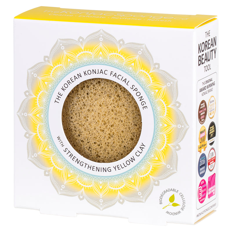 The Mandala Yellow Clay Face Sponge
