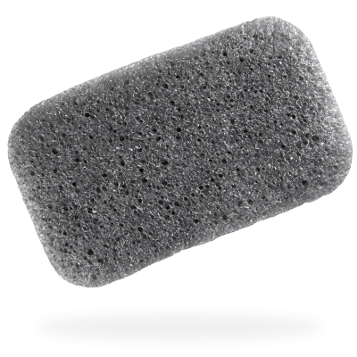Konjac Loofah Medley Body Sponge With Bamboo Charcoal