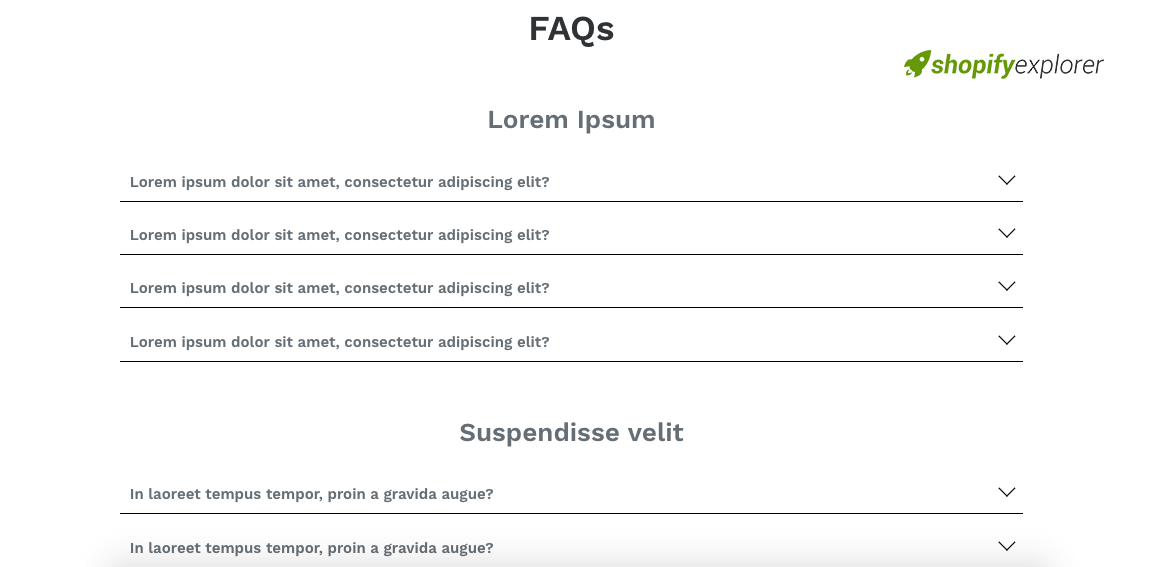 How to Build a Customizable FAQs page using section in Shopify