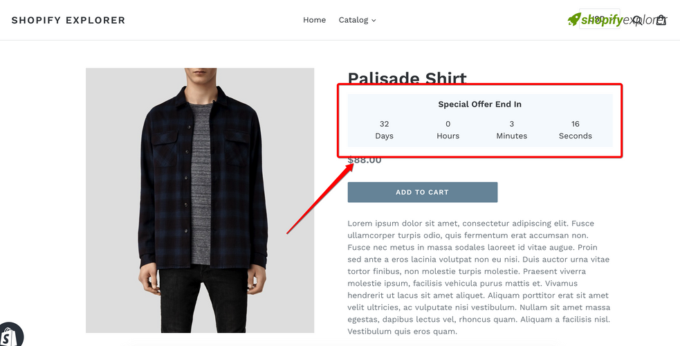How to add a simple Sales Countdown Timer to your Shopify Theme