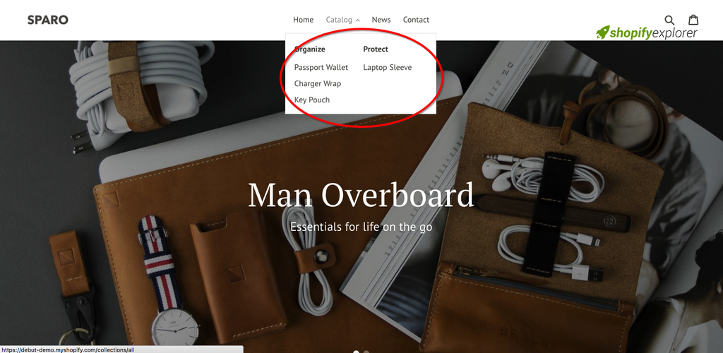 How to show drop down menu on hover in Shopify Debut Theme