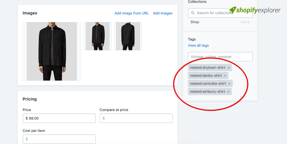 How to add related products using product tag in Debut theme