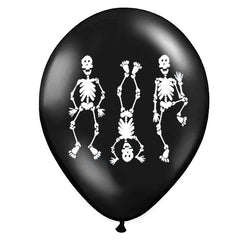 Sort Halloween ballon med skellet