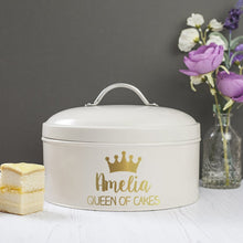 Load image into Gallery viewer, Personalised Queen Enamel Cake Tin