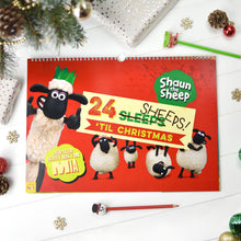 "Load image into Gallery viewer, Personalised Shaun the Sheep ""24 Sheeps"" Activity Advent Calendar"