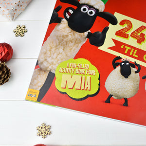 "Personalised Shaun the Sheep ""24 Sheeps"" Activity Advent Calendar"
