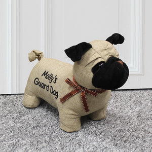 Personalised Pug Door Stop