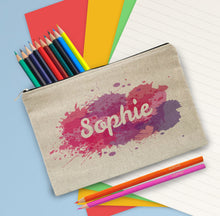 Load image into Gallery viewer, Personalised Splash Pencil Case