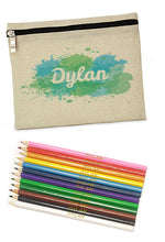 Load image into Gallery viewer, Personalised Splash Pencil Case with Pencils