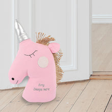 Load image into Gallery viewer, Personalised Unicorn Doorstop
