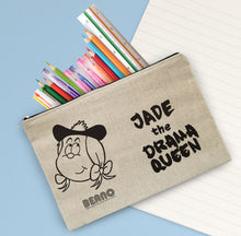 Load image into Gallery viewer, Personalised Beano Big Heads Minnie Canvas Pencil Case
