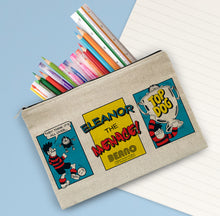 Load image into Gallery viewer, Personalised Beano Classic Comic Strip Top Dog Canvas Pencil Case