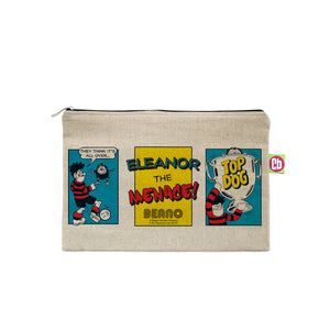 Personalised Beano Classic Comic Strip Top Dog Canvas Pencil Case