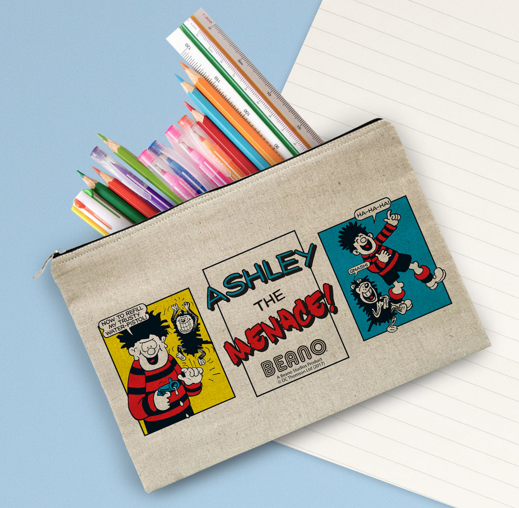 Personalised Beano Classic Comic Strip Water Pistol Pencil Case