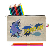 Load image into Gallery viewer, Personalised Underwater Adventure Shark Pencil Case & Pencils