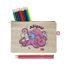 Load image into Gallery viewer, Personalised Underwater Adventure Octopus Pencil Case & Pencils