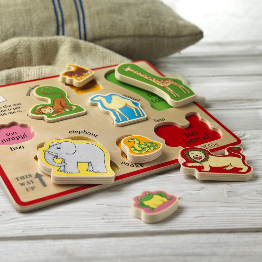 Personalised Dear Zoo Wooden Puzzle Tray