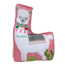 Load image into Gallery viewer, Personalised Pink Llama Door Stop