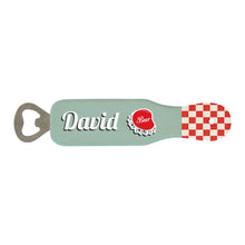 Load image into Gallery viewer, Personalised Retro Wooden Bottle Opener