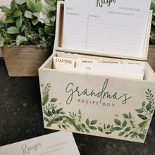 Load image into Gallery viewer, Personalised Wooden Floral Recipe Box