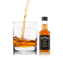 Load image into Gallery viewer, Personalised Jack Daniels Miniature & Tumbler Gift Set