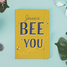 Load image into Gallery viewer, Personalised Bee You Yellow A5 Notebook
